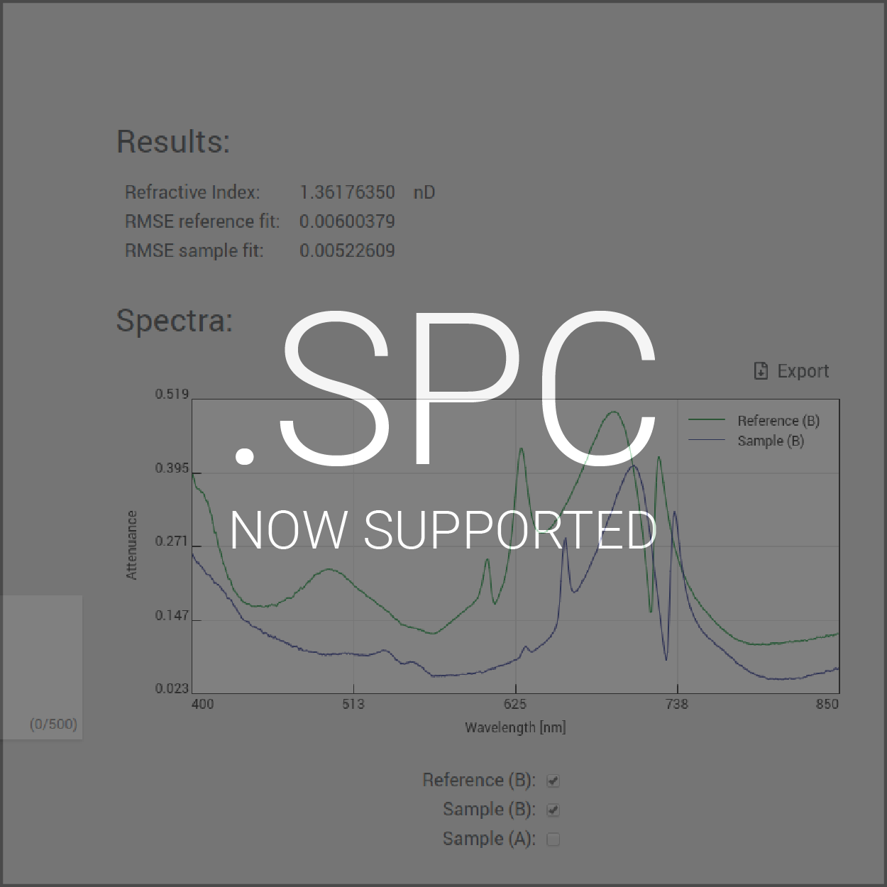 Update adds support for .spc-files